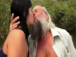 old man fingering young girl
