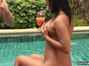pool bikini party nude