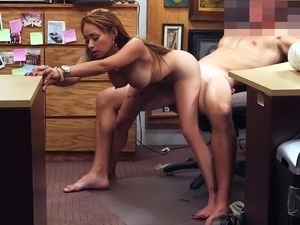Big tits in the office