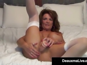 Deauxma big tits at work
