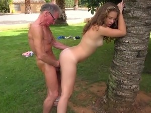 Outdoor sex spy