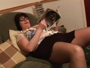 amateur cum on pantyhose video