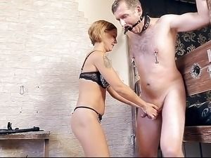 slave pussy caning