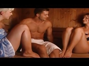 Sexy girls in sauna
