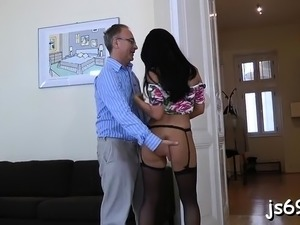 old man fucks young pretty girl