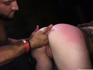 bdsm slave gets her pussy whipped