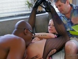 Teen rides big cock