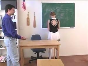 Sexy teacher with big tits