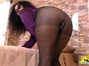 black control top pantyhose sex