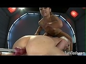 girl riding a sex machine
